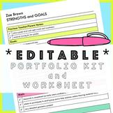 *Editable* Portfolio Folder Kit & Report Card Planning, Pa