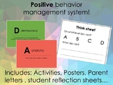 Positive behavior management system without punishment and rewards