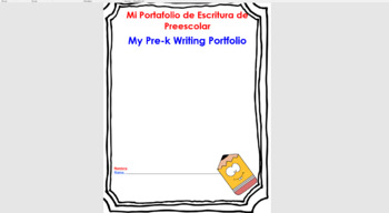 {Editable} Prek Monthly Writing Journal Spanish and English