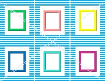 {Editable} RAINBOW NAME LABELS AND ATTENDANCE CARDS WITH COLORFUL PHOTO FRAMES!
