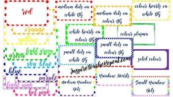 *Editable* Rainbow Border Bundle 83ct.