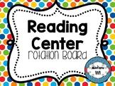 *Editable* Reading Center Rotation Digital Smart Board Display