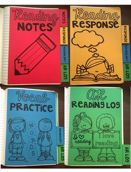 *Editable* Reading Interactive Notebook Dividers