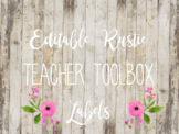 {Editable} Rustic Teacher Toolbox Labels
