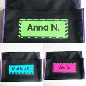 **Editable** Seat Sack Name Tags