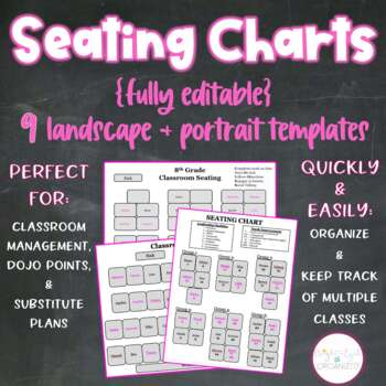 {Editable} Seating Charts Classroom Management + Organization, Dojo, Sub Plans