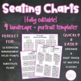 {Editable} Seating Charts Classroom Management + Organization, Dojo, Sub Plans