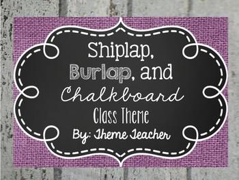 Farmhouse Classroom Theme- All Editable!