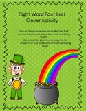 *Editable* Sight Word Four Leaf Clover Center