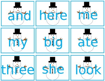 (Editable) Sight Words Write Around the Room Winter Theme