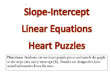*Editable* Slope-Intercept Linear Equations Heart Puzzles