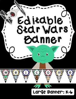 **Editable Star Wars Banner**