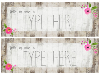 {Editable} Student Nameplates