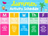 *Editable* Summer Schedule, Weekly Planner, Daily Checklis