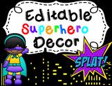 **Editable Superhero Decor Bundle**