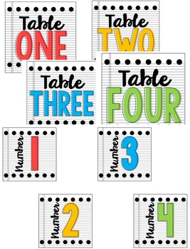 *Editable* Table and Cubby Labels