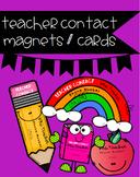 *Editable* Teacher Contact Magnets