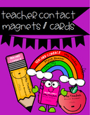 *Editable* Teacher Contact Magnets