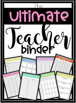 **Editable** Teacher Handbook (Binder)