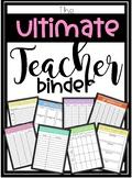**Editable** Teacher Binder