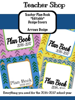 *Editable* Teacher Planner Design Cover- Arrows