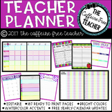 *Editable* Teacher Planner and Organizer