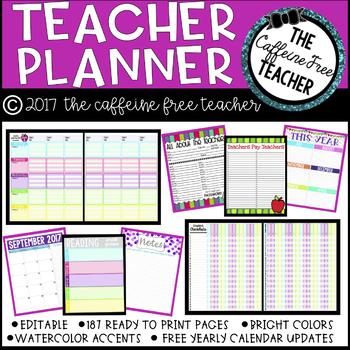 *Editable* Teacher Planner and Organizer