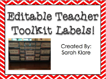 **Editable** Teacher ToolKit Labels!