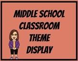 Editable Theme Display for Middle School Classroom