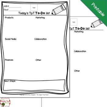 {Editable} TpT To Do List FREEBIE