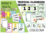 Editable Tropical Theme Classroom Decor - A Growing Bundle!