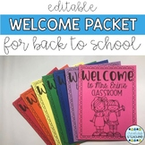 {Editable} Welcome Packet for Back to School