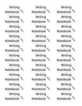 [ Editable ] Writing Notebook Labels