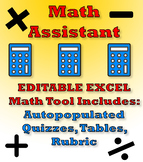 Math Assistant (Editable in Excel)