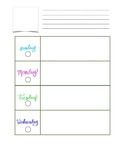 *Editable* lesson plan template with bonus growth mindset