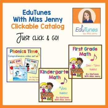 """EduTunes With Miss Jenny"" Clickable Catalog (Pre-K - 3)"