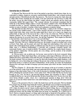 """Educated: A Memoir"" by Tara Westover: A Reader's Guide"