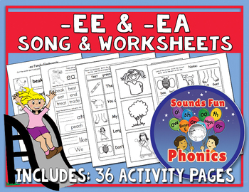 -Ee & -Ea Phonics Worksheets