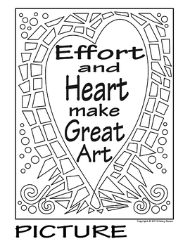 """Effort and Heart Make Great Art"" COLLABORATIVE Mural"