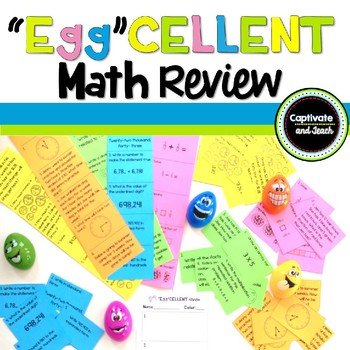 """Egg""Cellent Math Review-Spring/Easter Anytime Math Center"