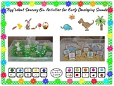 """""""Egg""""celent Sensory Bin Activities for Early Developing Sounds"""