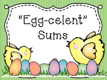 """""""Egg-celent"""" Sums Math Center"""