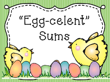 """Egg-celent"" Sums Math Center"