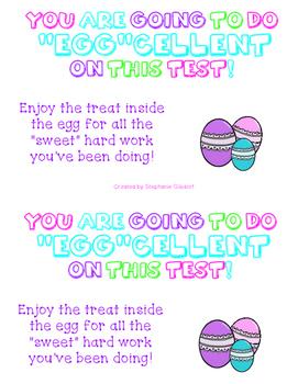 """""""Egg""""cellent Motivational Testing Note"""
