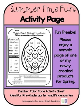 """""""Egg""""cellent Summer Time Fun Activity Page *FREEBIE*"""