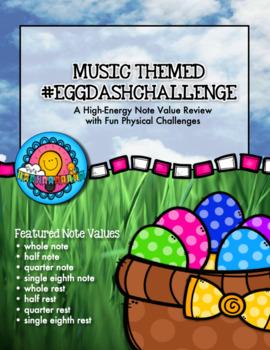 #EggDashChallenge Easter Egg Dash Note Value Rhythm Relay Group Challenge