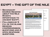 """Egypt - The Gift of the Nile"" - Global/World History"
