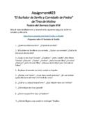 """""""El Burlador de Sevilla y Convidado de piedra"""" COMPLETE Class"""