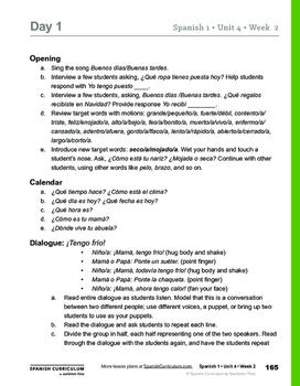 El Clima - 1 Week of Teacher Lesson Plans