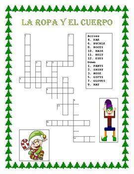 """""""El Duende""""- La Ropa y El Cuerpo-"""" Elf Themed - Body Parts /Clothing in Spanish"""